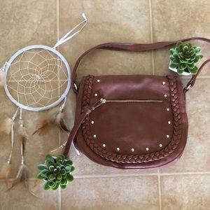 trendy boho chic side crossbody saddle bag 🦋